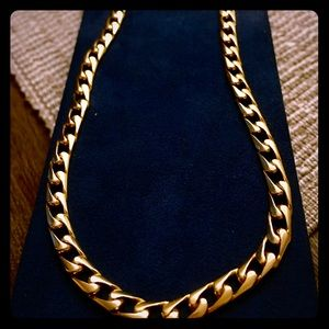 Cuban link 14k yellow gold heavy 22 inches long